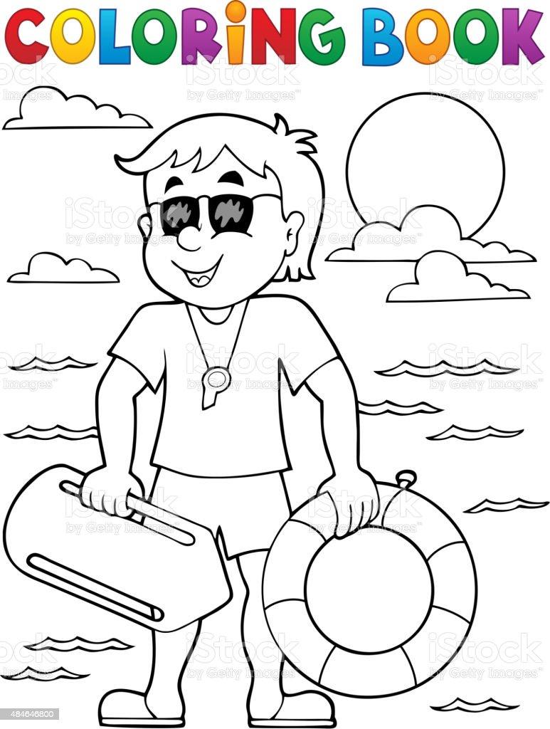 Ilustración de Libro Para Colorear Life Temático De Seguridad 1 y ...