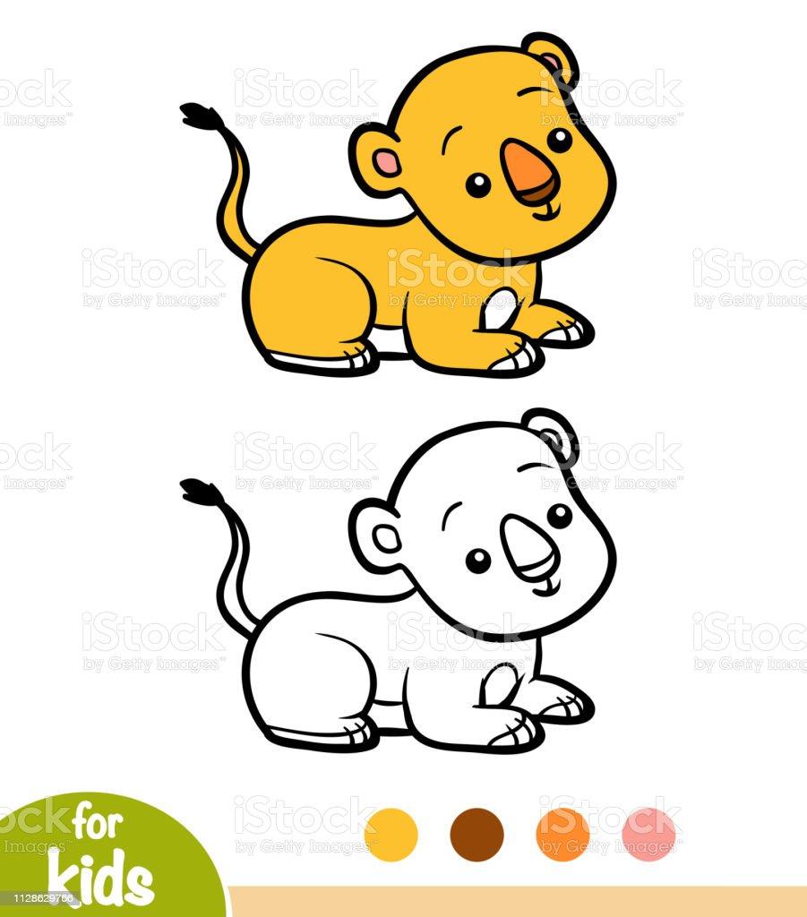 Livre De Coloriage Lionceau Vecteurs Libres De Droits Et Plus D