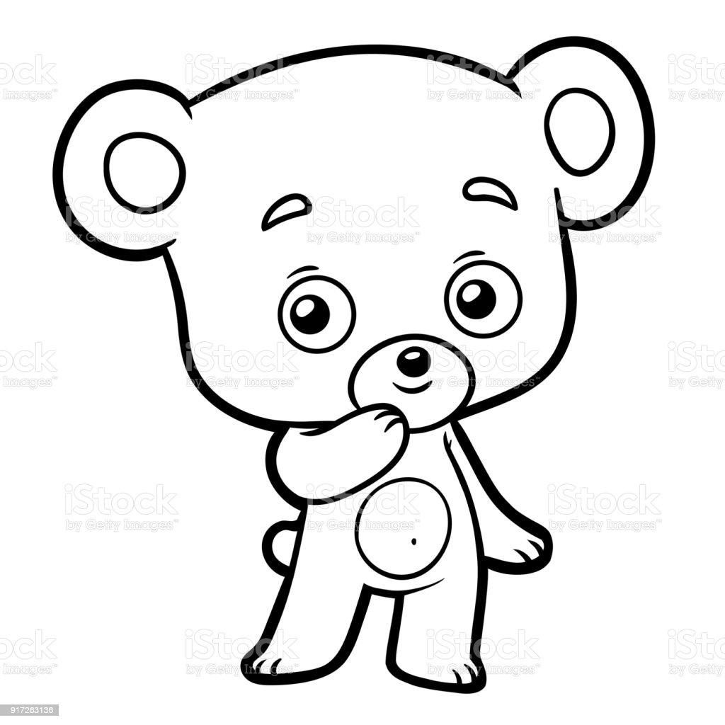 Livre de coloriage petit ours cliparts vectoriels et plus d 39 images de blanc 917263136 istock - Dessin petit ours ...