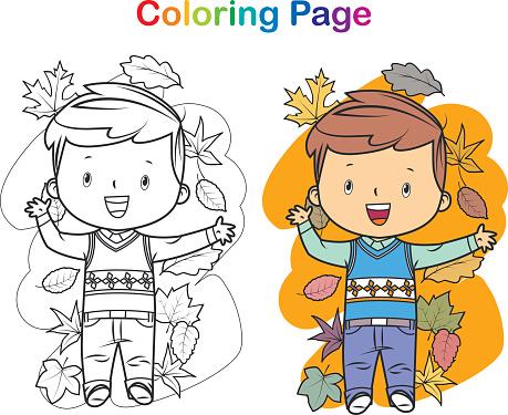 Coloring book: little boy