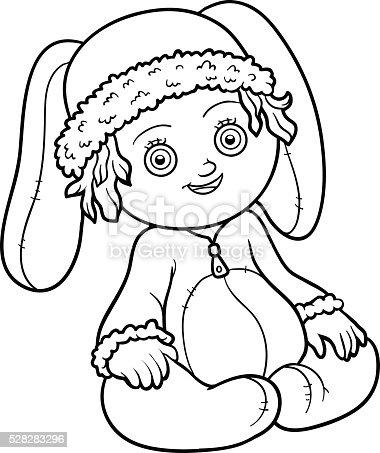 Livre de coloriage fillette dans un costume de lapin cliparts vectoriels et plus d 39 images de - Coloriage fillette ...