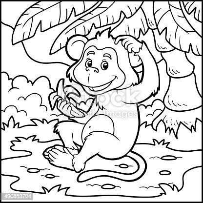 istock Números juego: little monos con un de tipo banana 491050476 ...