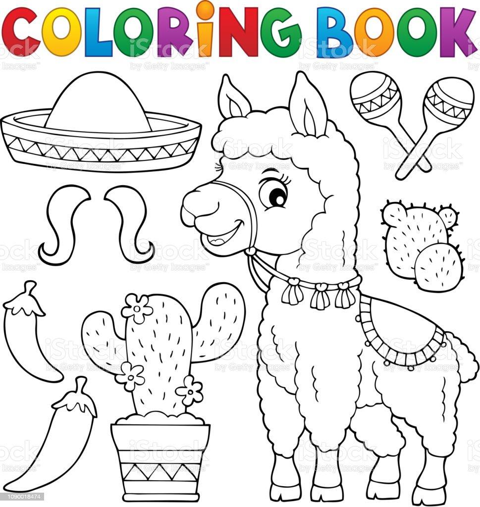 Ilustración De Conjunto De Objetos Y Llama De Libro Para