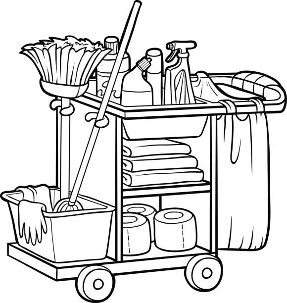 Royalty Free School Janitor Clip Art, Vector Images