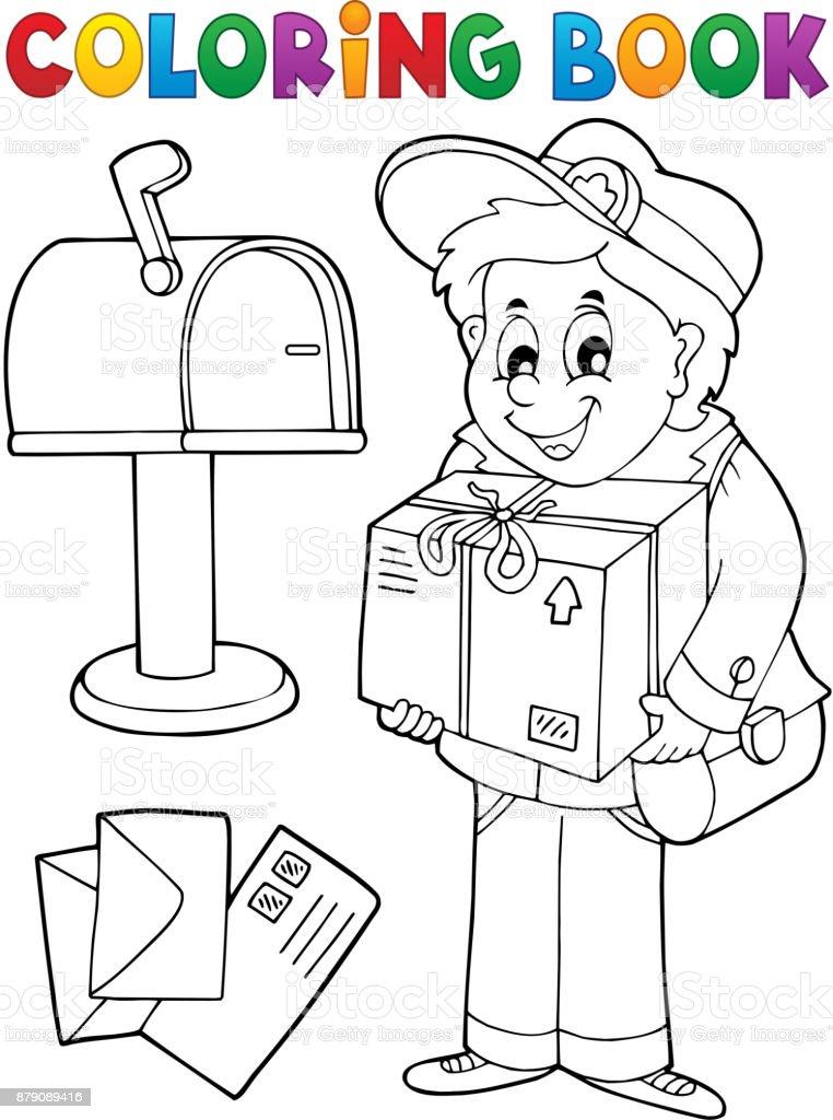 Malvorlagen Buch Briefträger Liefert Box Stock Vektor Art und mehr ...