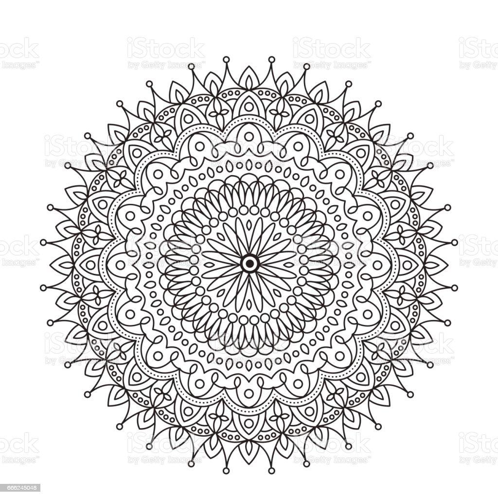 Ilustración de Mandala De Libro Para Colorear Adorno De Encaje ...