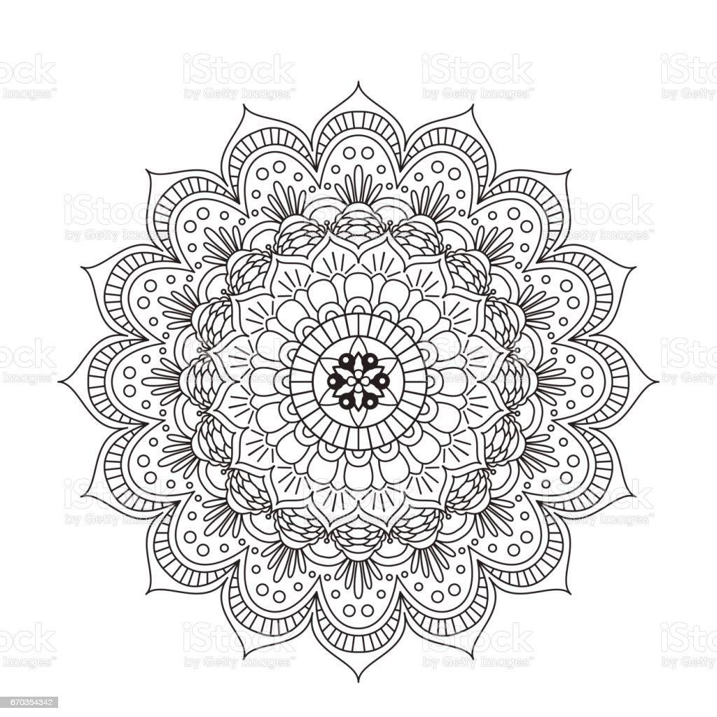 Mandala De Libro Para Colorear Adorno De Encaje Redondo Mandala ...