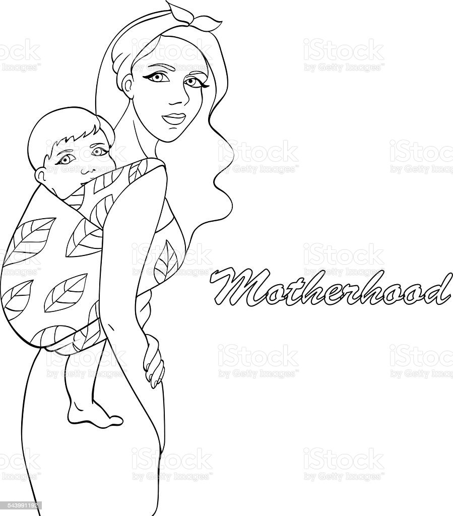 top 60 babywearing clip art  vector graphics and illustrations