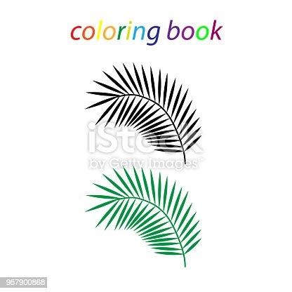 Ilustración de Libro De Una Hoja Tropical Para Niños Y Principiantes ...