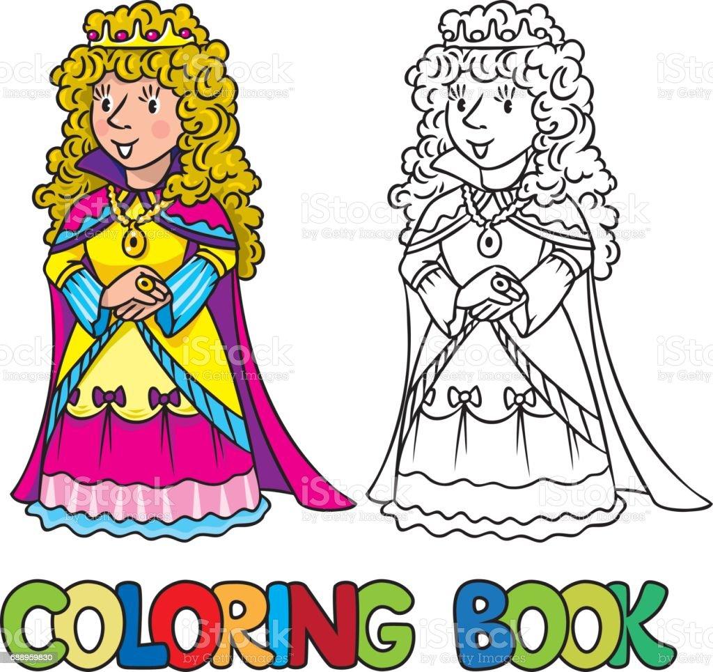 Ilustración de Libro Para Colorear De Princesa O Reina De Las Hadas ...