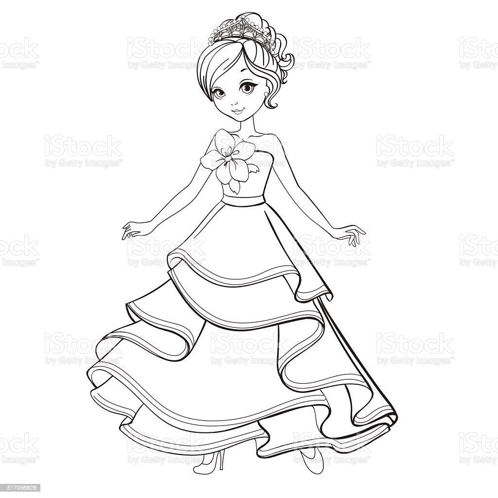 Ilustración de Libro Para Colorear Princesa De Belleza y más banco ...