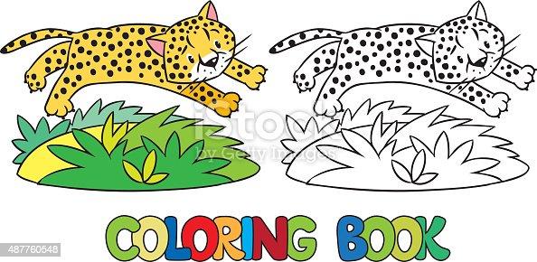 ᐈ Imagen De Libro Para Colorear De Poco Cheetah O Jaguar