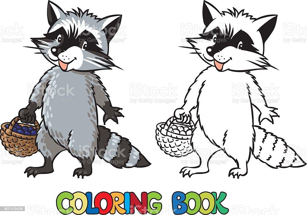 Ilustración de Libro Para Colorear De Poco Gracioso Mapache y más ...