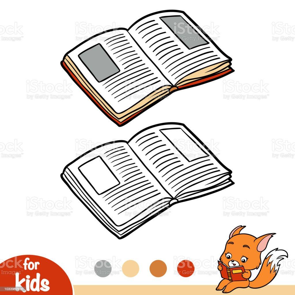 Boyama Kitabi Acik Kitap Stok Vektor Sanati Anaokulu Nin Daha