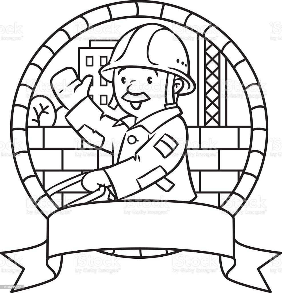 Ilustración de Libro Para Colorear O Emblema De Divertidos ...