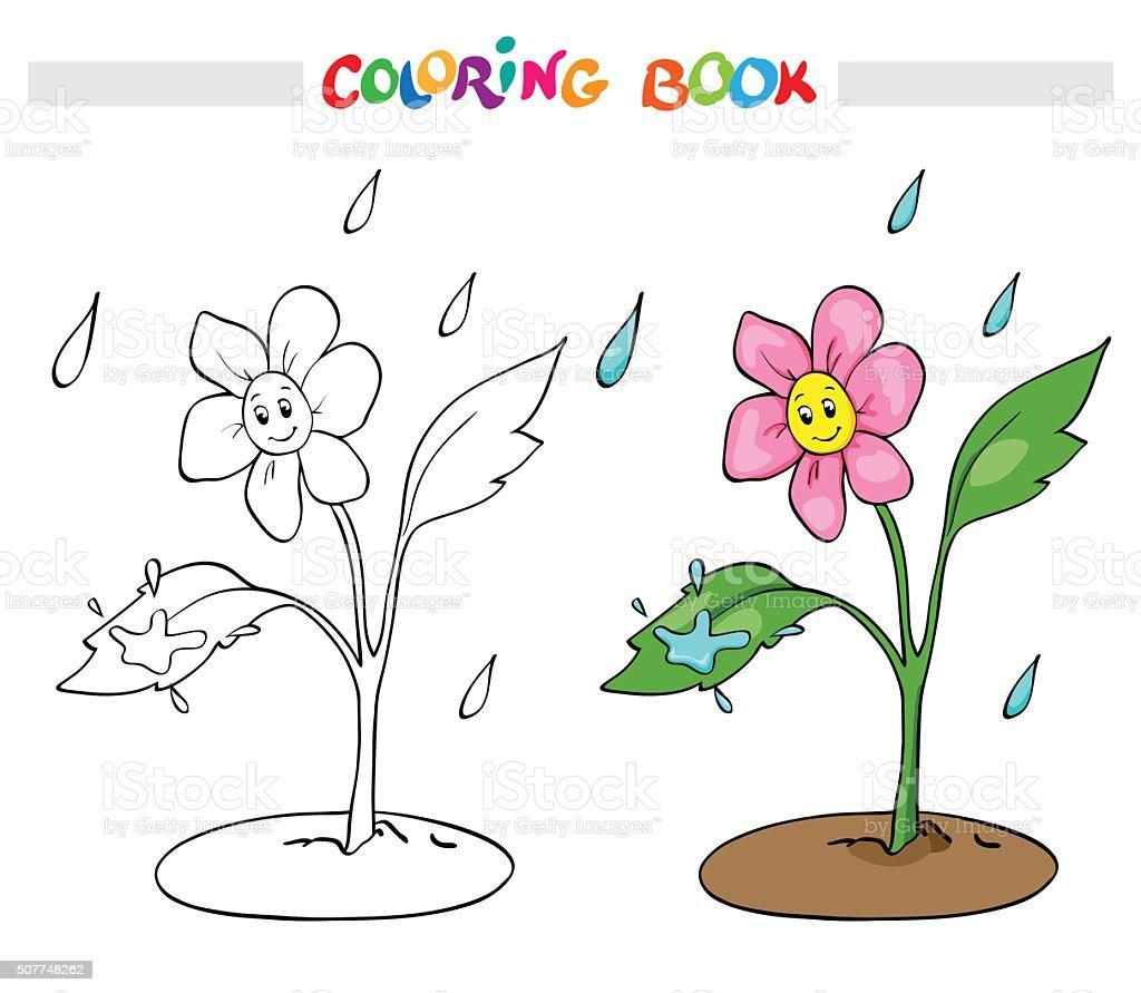 Vetores De Livro De Colorir Ou Pagina Flor Margarida Alegrase