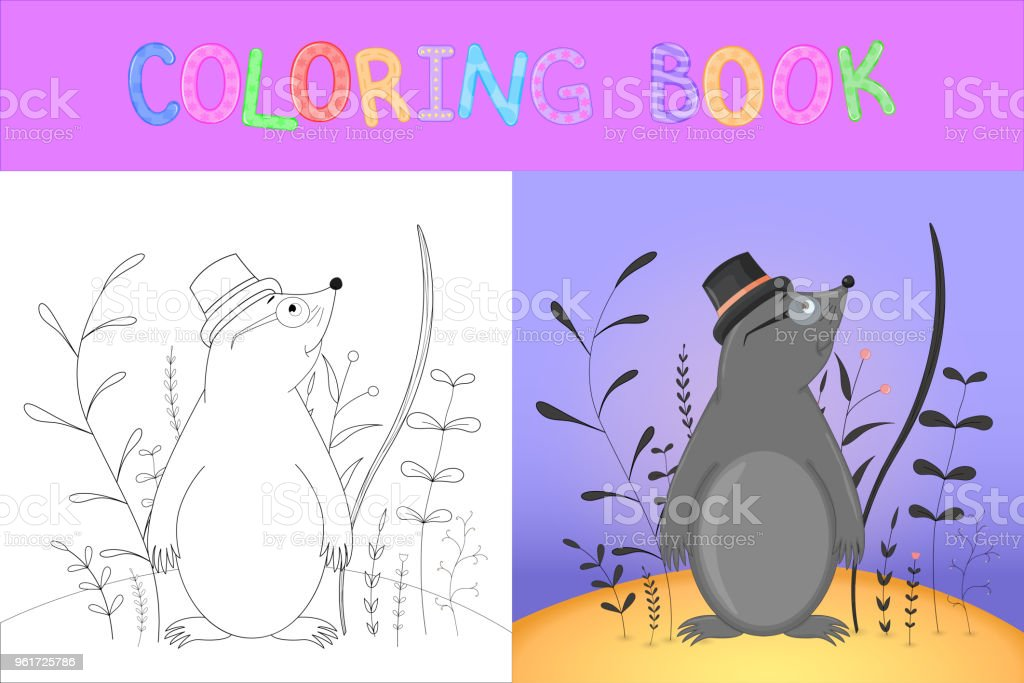 - Coloring Book Or Page For Children Of School And Preschool Age Developing  Children S Coloring Vector Cartoon Illustration With Cute Mole Stock  Illustration - Download Image Now - IStock