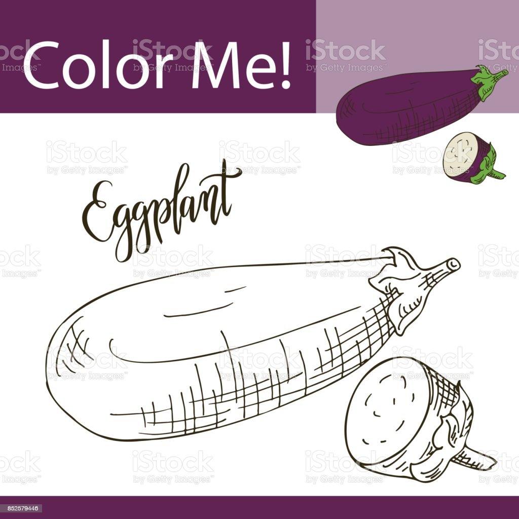 Boyama Kitabı Veya Sayfa Bir Sebze Vektör çizim Ile çizilmiş