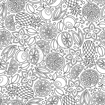 Coloring Book Page Adult Antistress Therapy Stock Vector Art 811566394