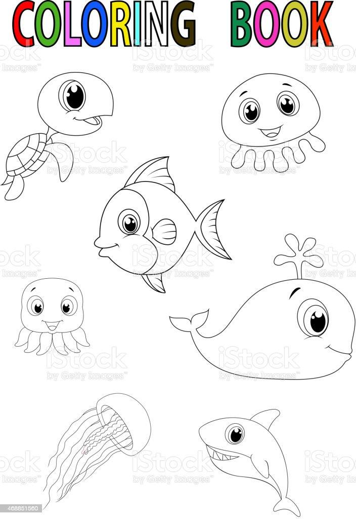 Cartoon Fisch Malbuch Stock Vektor Art und mehr Bilder von 2015 ...