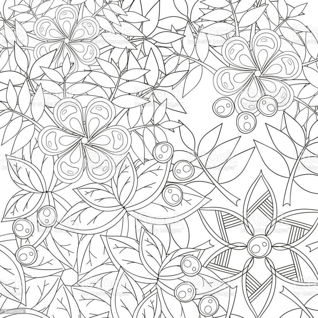 Coloriage Fleur Hippie.Page De Livre De Coloriage Pour Adultes Et Enfants Dans Un Style