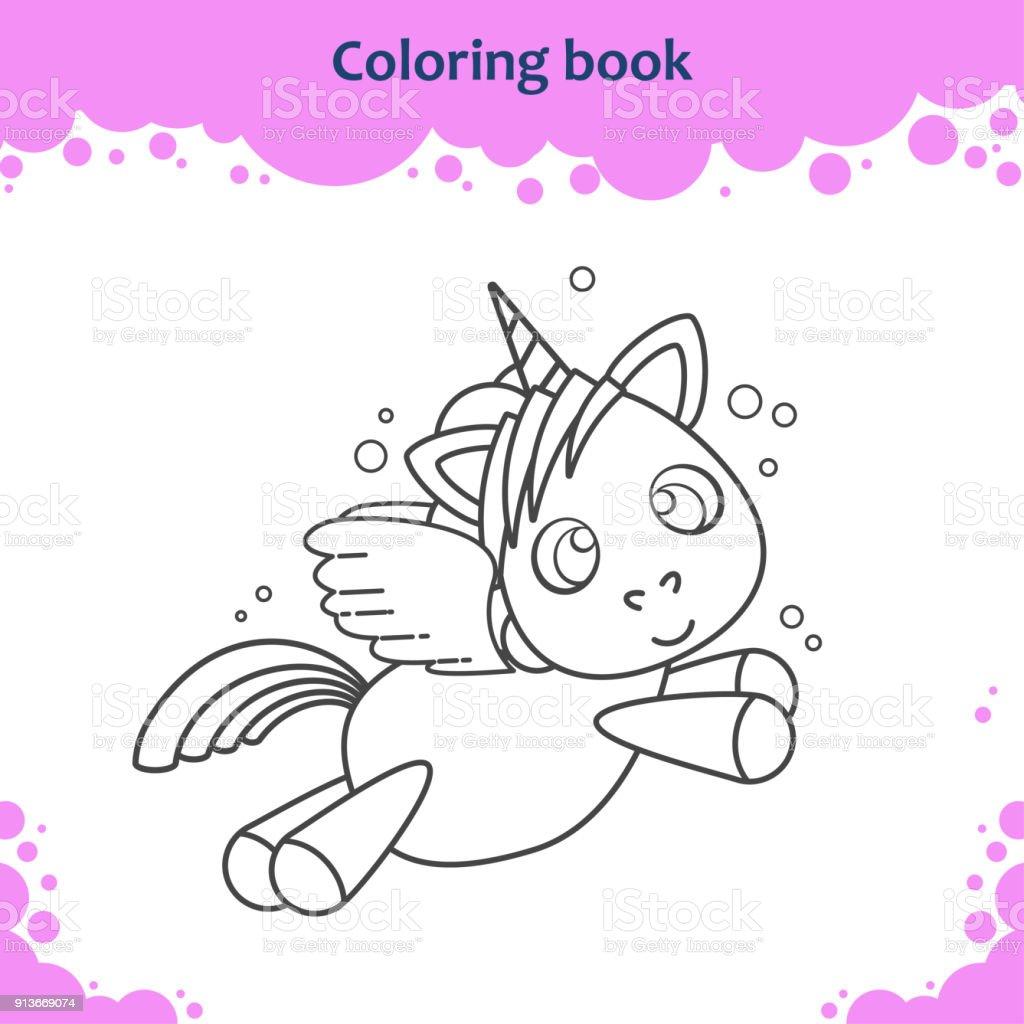 Ilustración De Página De Libro Para Colorear Para Niños Color De