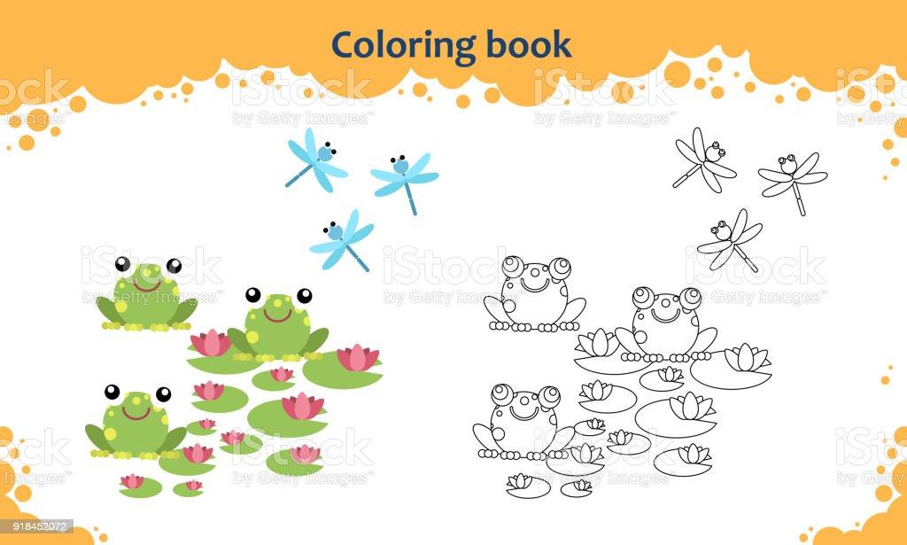Ilustración de Página De Libro Para Colorear Para Niños Color De Las ...