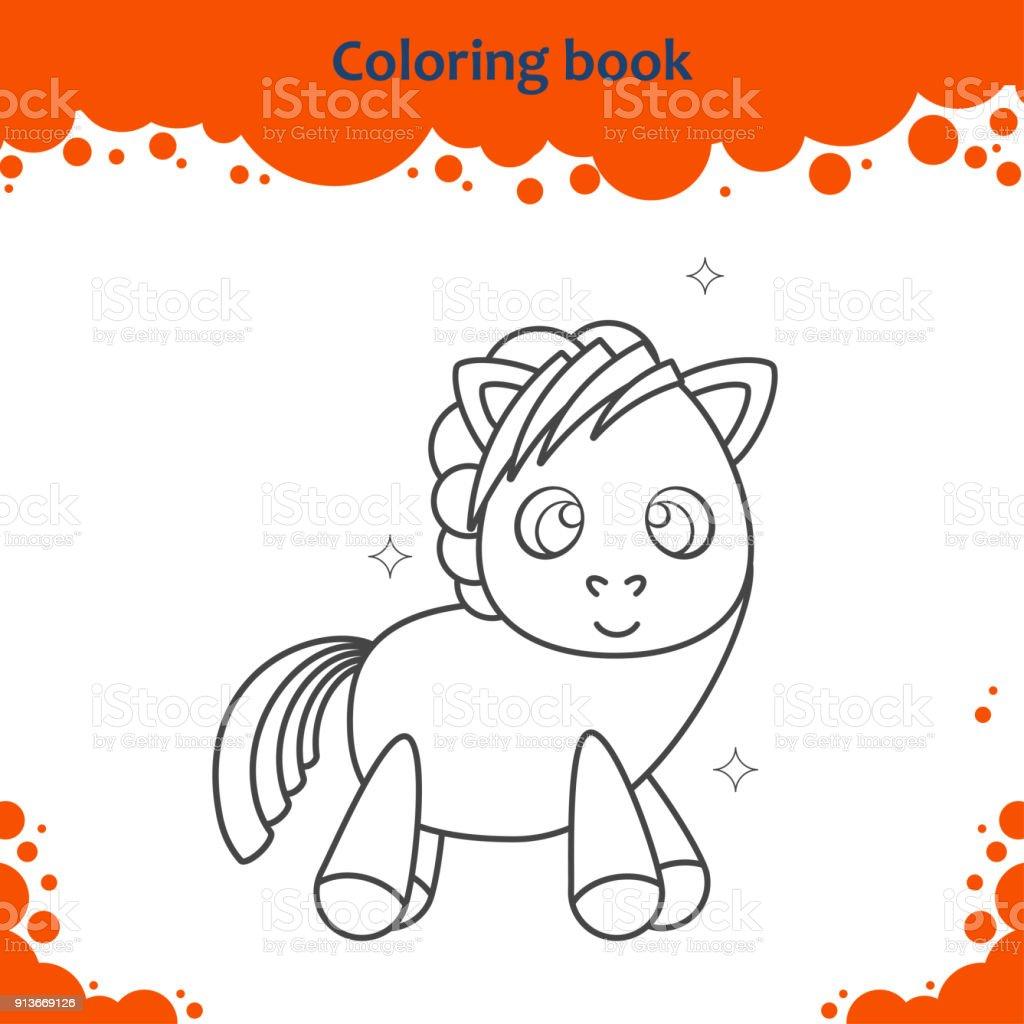 Ilustración de Página De Libro Para Colorear Para Niños Color De ...