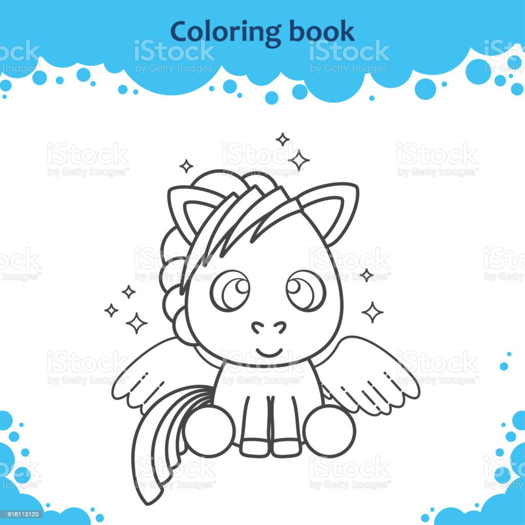 Ilustración de Página De Libro Para Colorear Para Niños El Lindo De ...