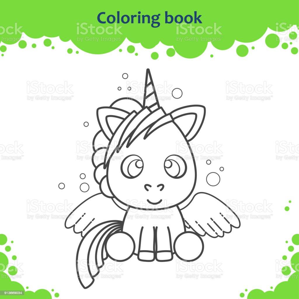 Ilustración de Página De Libro Para Colorear Para Niños Color Del ...