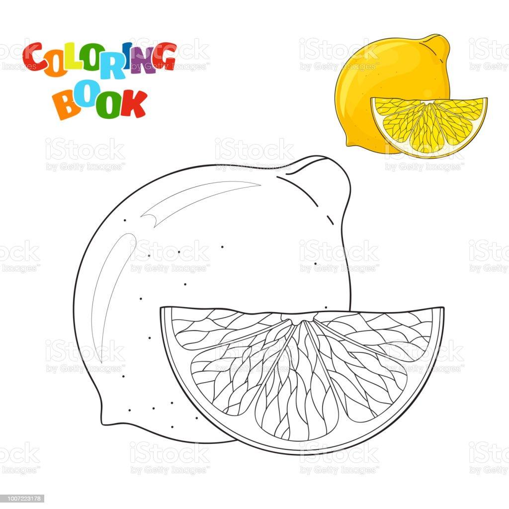 Limon Ana Hatlari Ve Renkli Bir Kopyasi Olan Okul Oncesi Cocuklar