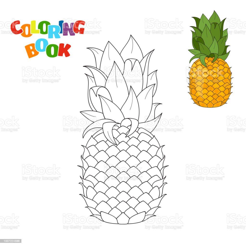 Buchmalvorlagen Für Kinder Im Vorschulalter Mit Umrisse Von Ananas