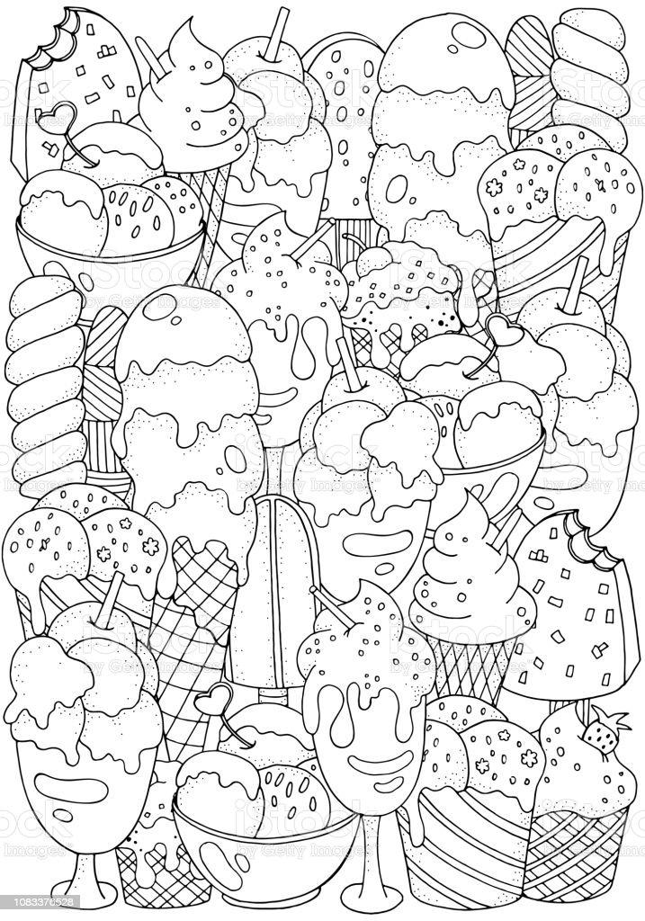 Livre De Coloriage Ensemble De Dessins Vectoriels Fruit De