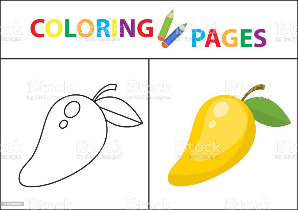 Coloring Book Seite Skizze Kontur Und Farbe Version Malvorlagen Für ...