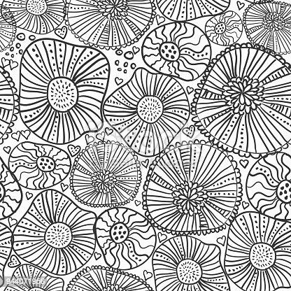 istock Coloring page flower 609075896 istock Página de libro para ...