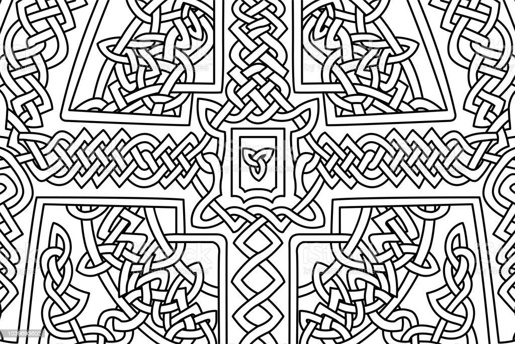 Ilustración de Página De Libro Para Colorear Con Arte Celta ...