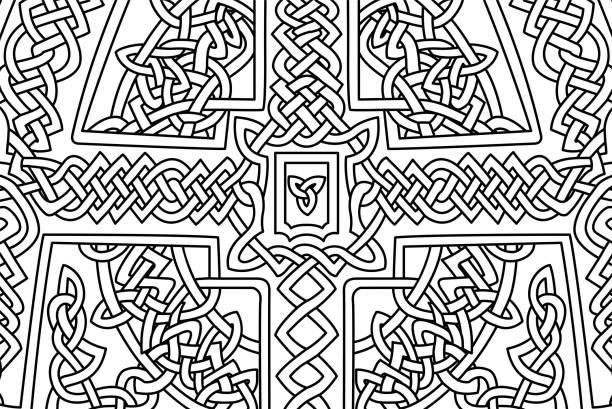 Vectores de Nudo Celta De Flores Ilustración Vectorial Para Su ...