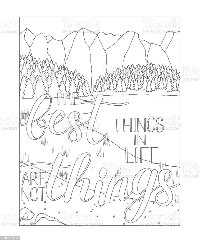 Ilustración de Página De Libro Para Colorear Con Un Paisaje De ...