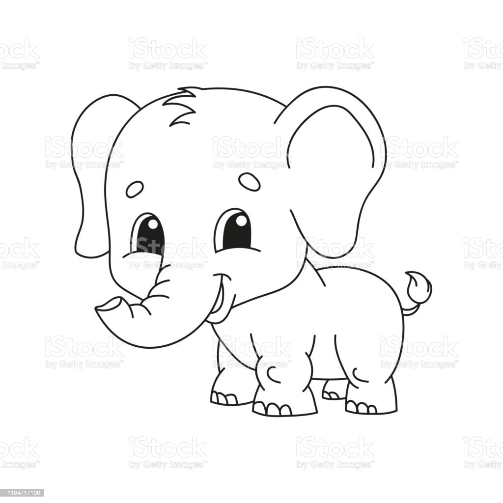 - Coloring Book Pages For Kids Cute Cartoon Vector Illustration