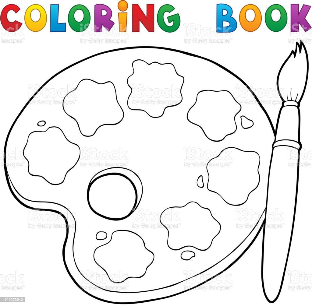Livre De Coloriage Thème Une Palette De De Peinture Vecteurs
