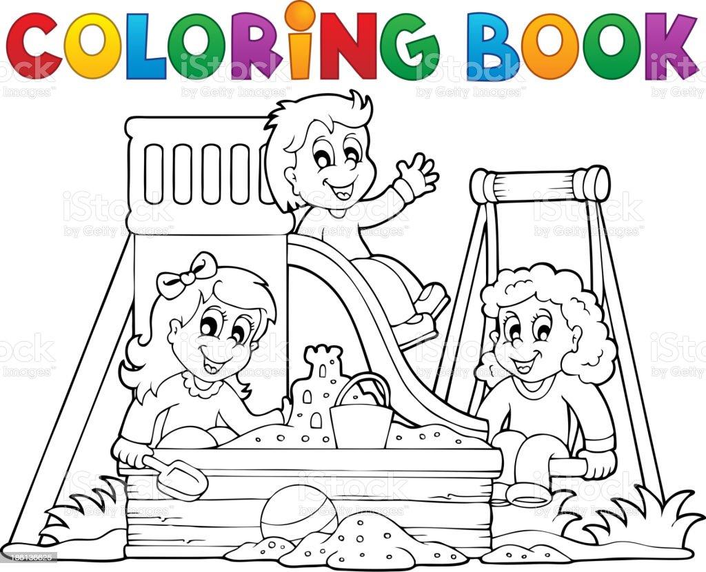 Libro Para Colorear Patio De Juegos Tema 1 Illustracion Libre Derechos