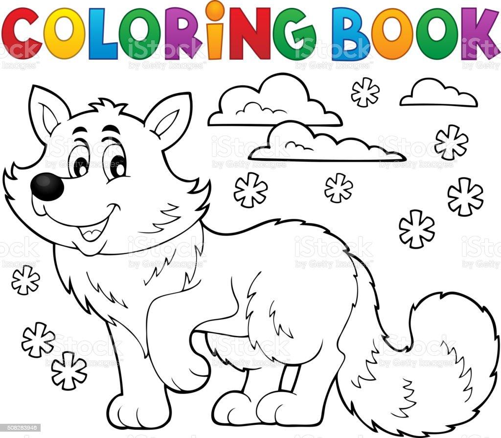 Libro Para Colorear Polar Fox Tema 1 - Arte vectorial de stock y más ...