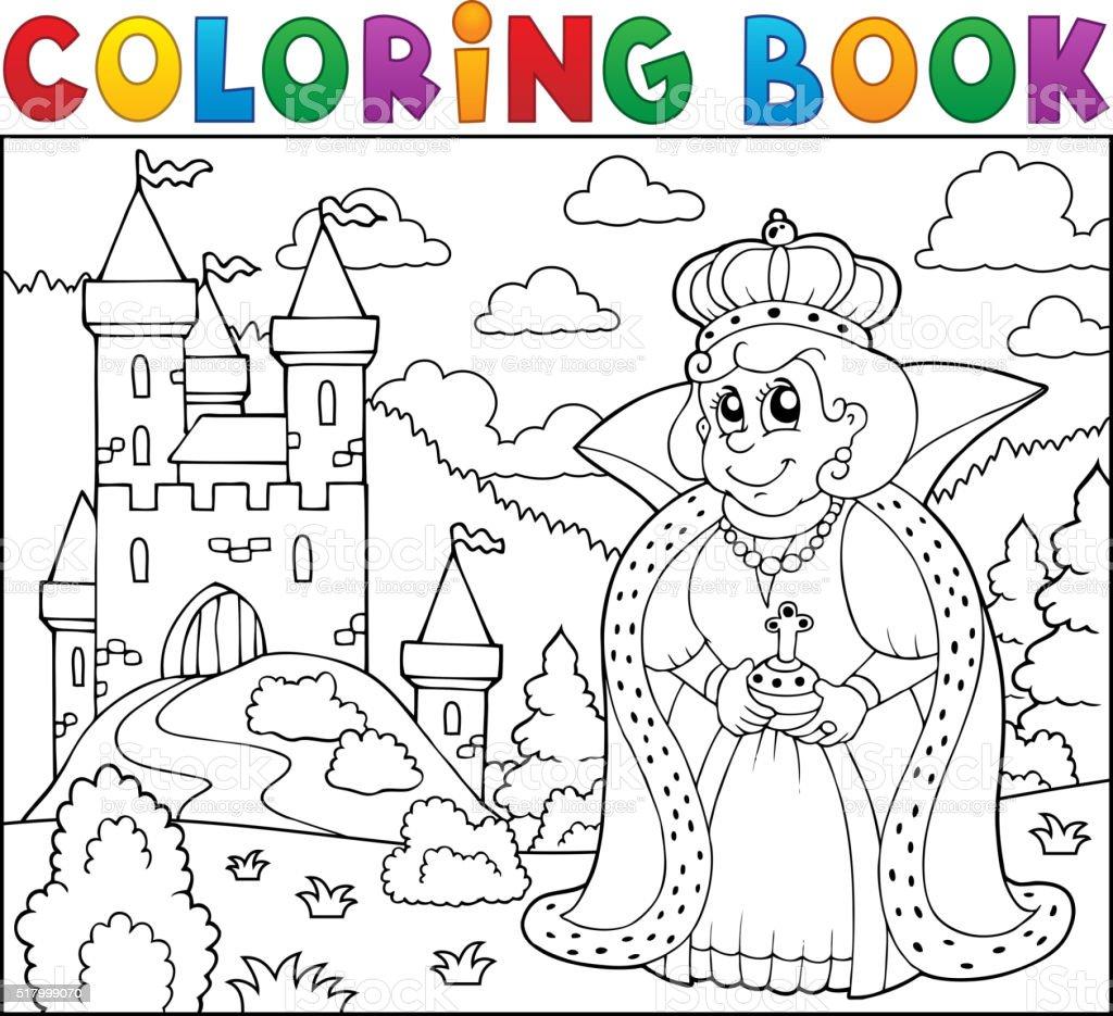 Coloriage Grand Chateau.Livre De Coloriage Avec Deux Grands Lits A Proximite Du Chateau