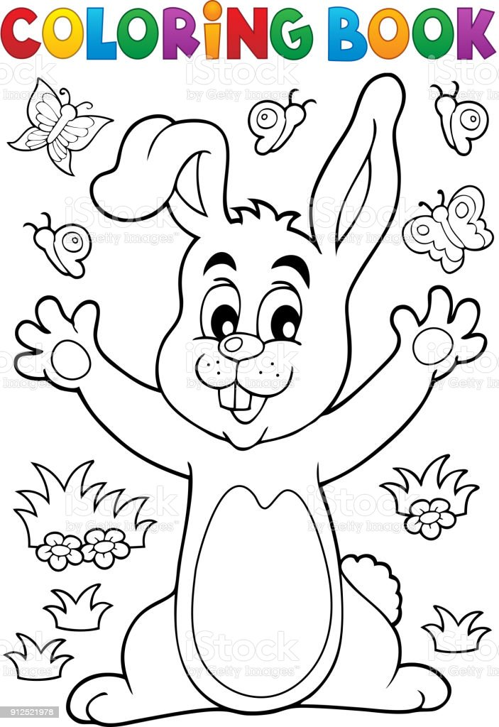 Coloring Book Rabbit Theme 6 Stock Illustration Download Image