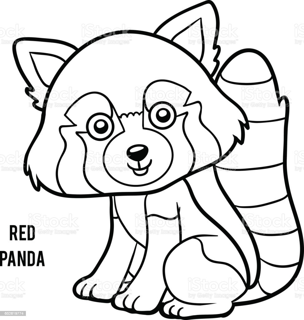 Coloring book red panda stock vector art more images of for Red panda coloring page