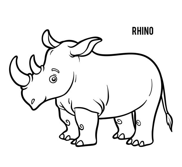 Top 60 Rhino Coloring Page Clip Art, Vector Graphics and ...