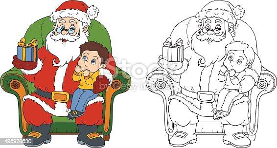 istock Santa Claus sentado con un niño lindo 959762190 istock Santa ...