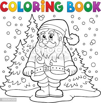 istock Libro de colorear de Papá Noel que sube 862642526 istock ...