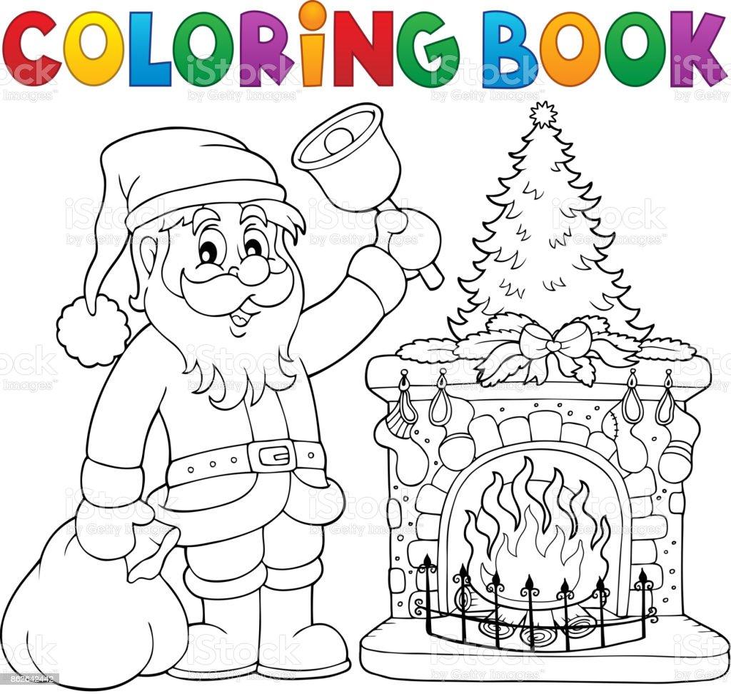 Kitap Noel Baba Thematics 1 Boyama Stok Vektör Sanatı Adamlarnin