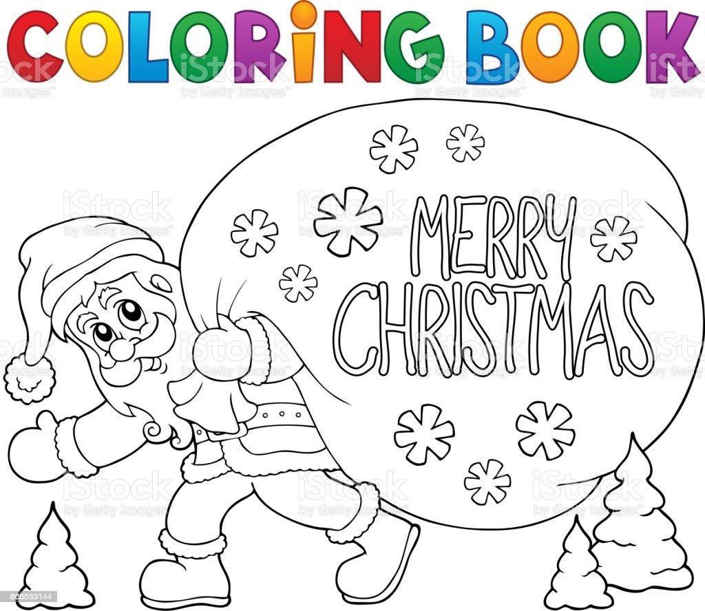 Kitap Noel Baba Thematics 6 Boyama Stok Vektor Sanati Adamlar